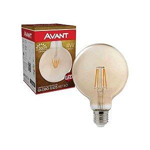 Lâmpada Filamento LED 4w Globo G125 Retrô Bivolt Avant - Âmbar