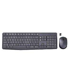 Kit Teclado E Mouse Logitech Mk235  Wireless Usb Sem Fio