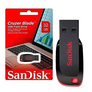 Pen Drive  SanDisk 32 Gb Cruzer Blade Usb 2.0 Preto E Vermelho