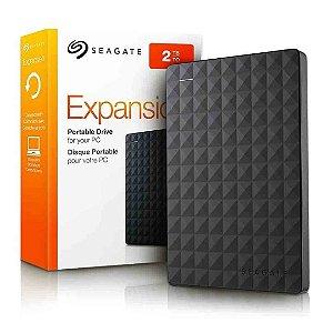 "Hd Externo Seagate 2Tb Expansion Usb 3.0/2.0 Fator 2,5"""