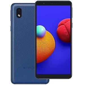 Celular Smartphone Samsung Galaxy A01 32GB 2GB Android Dual Sim Azul