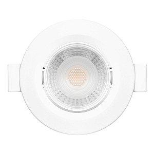 Spot LED 3w Redondo e de Embutir Alumínio - Branco Quente 3000K