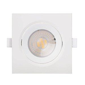 Spot LED Quadrado 7w Branco Frio 6000k - Luz de Qualidade