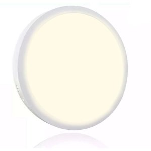 Painel Plafon Led 12w Redondo Sobrepor - Branco Quente - AVANT
