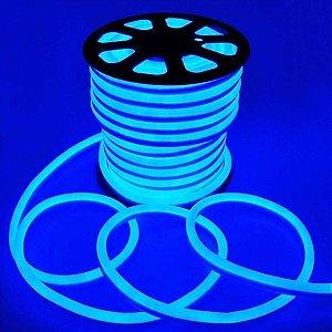 Fita de LED Neon 50 metros 110V - Azul Brilhante