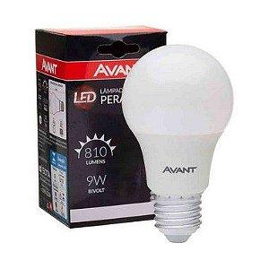 KIT 10 Lâmpada LED 9w Bulbo Bivolt Avant - Branco Frio