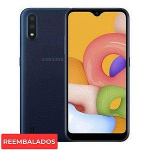 "Smartphone Samsung Galaxy A01 Core 2Gb 32Gb Câmera 13MP 5.7 "" - Azul"