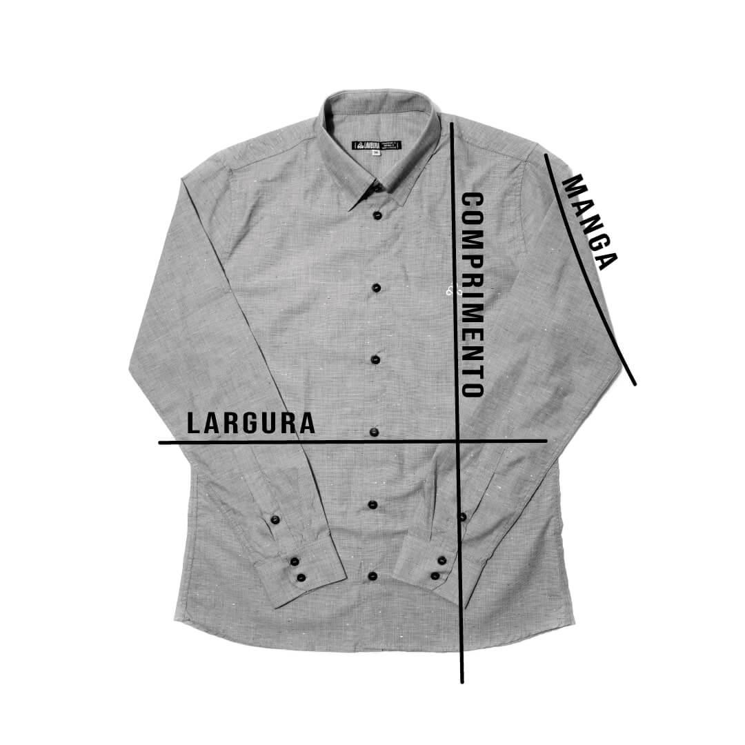 medidas camisa manga longa