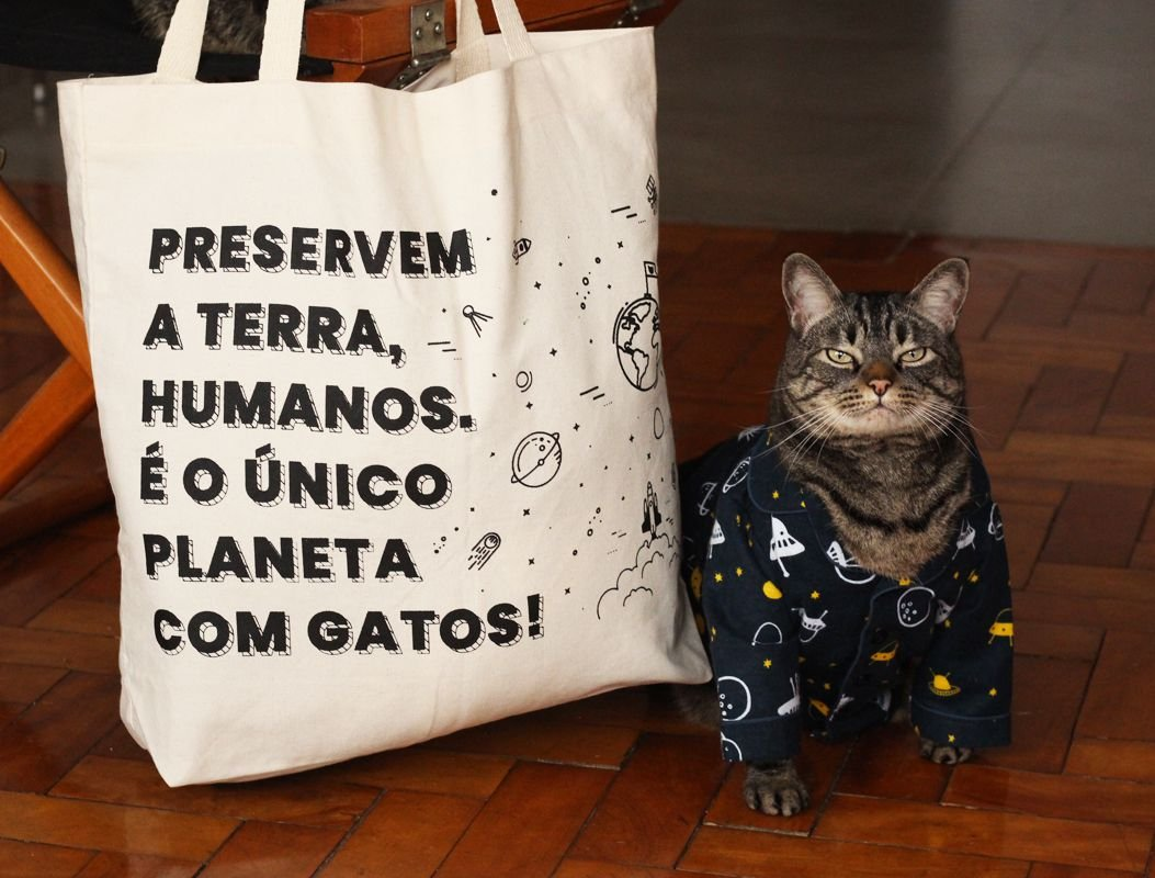 b6ee5b8c61 Ecobag Planeta - Cansei de Ser Gato