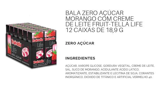 BalaZeroAcucarMorango