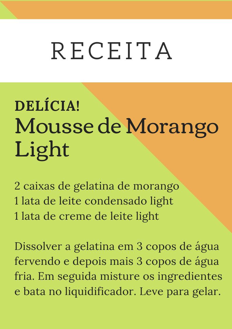 ReceitaMousseMorangoLight