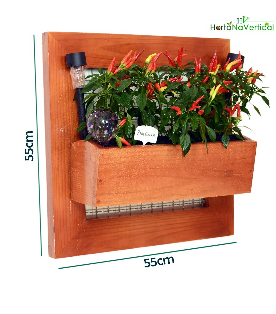 9f6731147 ... AUTO IRRIGÁVEL - Horta Vertical 55x55cm com 1 Vaso de plantio direto -  Imagem 3 ...