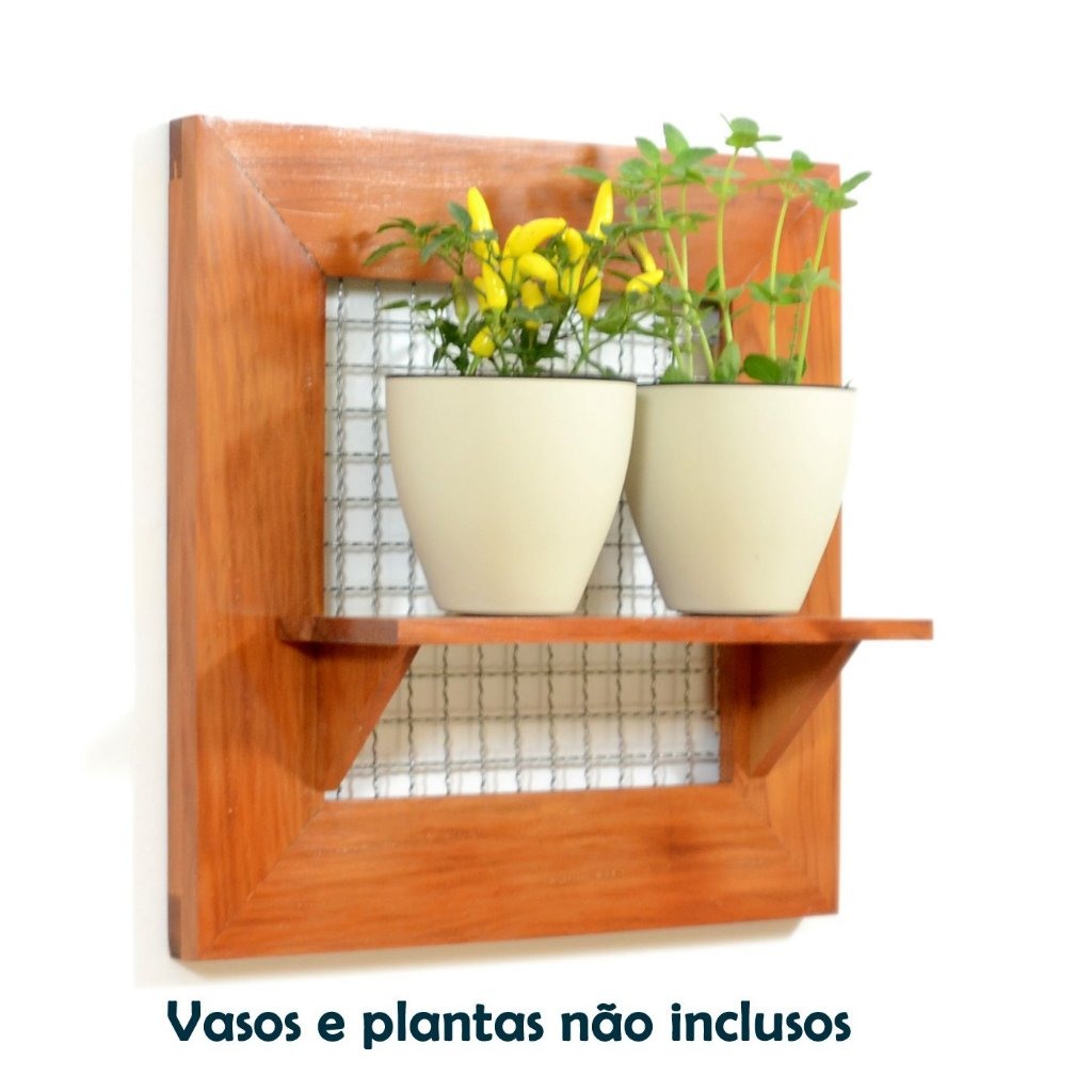 Pallet Ou Painel Para Seu Jardim Horta Ou Floreira Vertical Horta  -> Floreira Vertical