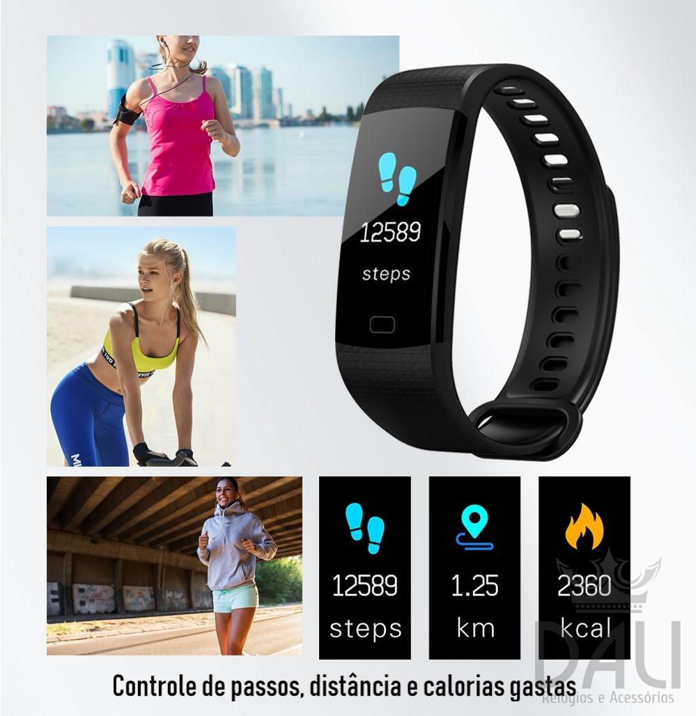260102542b23d Relógio Smartwatch Pulseira Inteligente F4s Color - Dali Relógios
