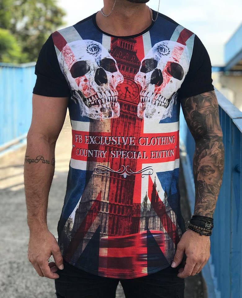 ... Camiseta Longline Skull England - FB Exclusive Clothing Clothing -  Imagem 2 f8709afd7e5