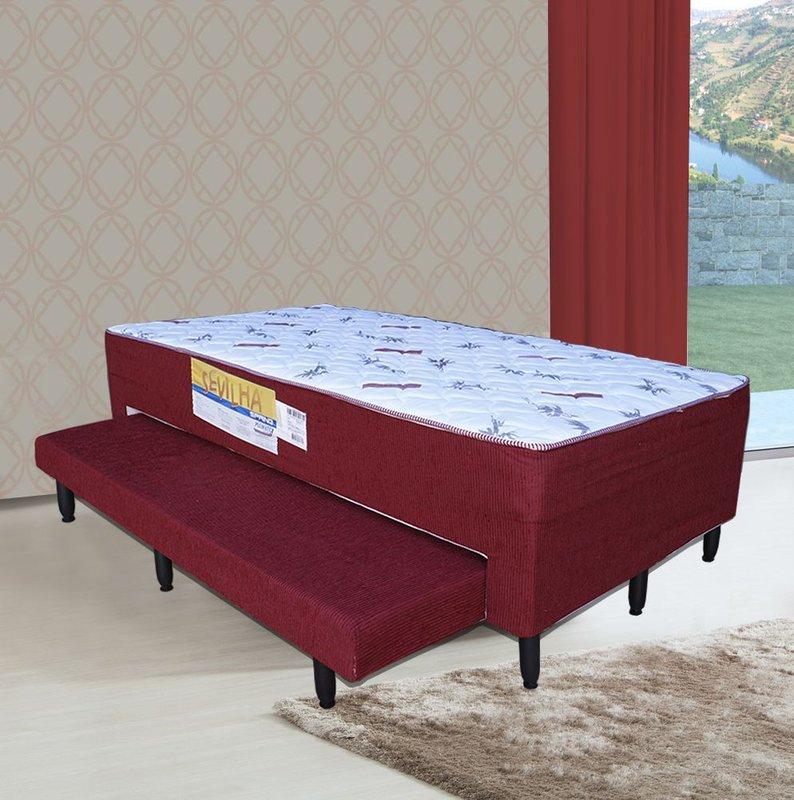 cama unibox solteiro plumatex c auxiliar bilateral servilha