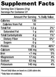 100% Whey Protein Refil 837g Black Skull tabela nutricional.