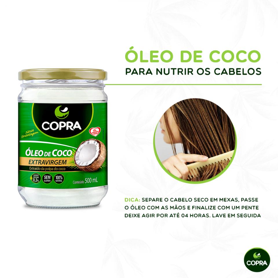 Óleo de Coco para hidratar os cabelos