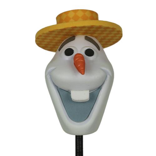 enfeite para antena de carros olaf de chapeu frozen