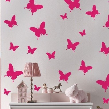 adesivo-de-parede-borboletas-rosa
