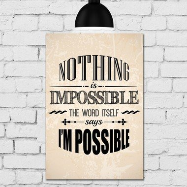 placa-decorativa-mdf-frase-nothing-is-impossible