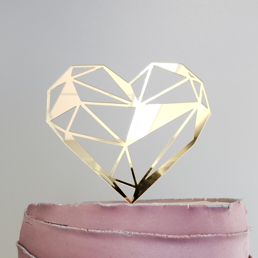 topo-bolo-coracao-geometrico-morderno-casamento-noivado