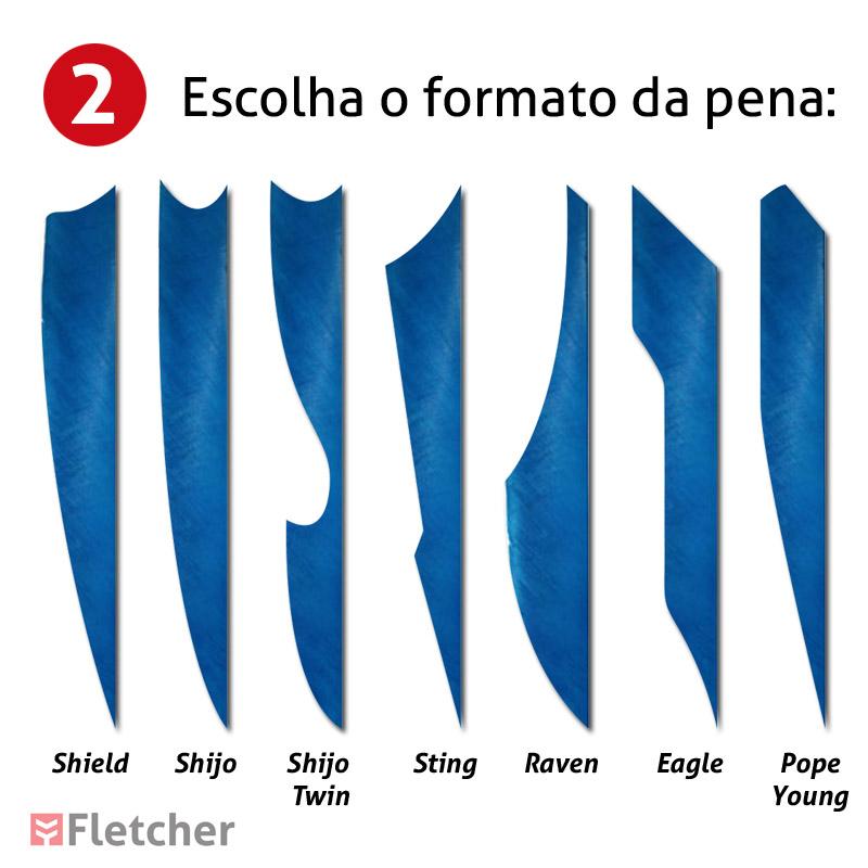 Flechas Personalizadas - Escolha o formato das penas