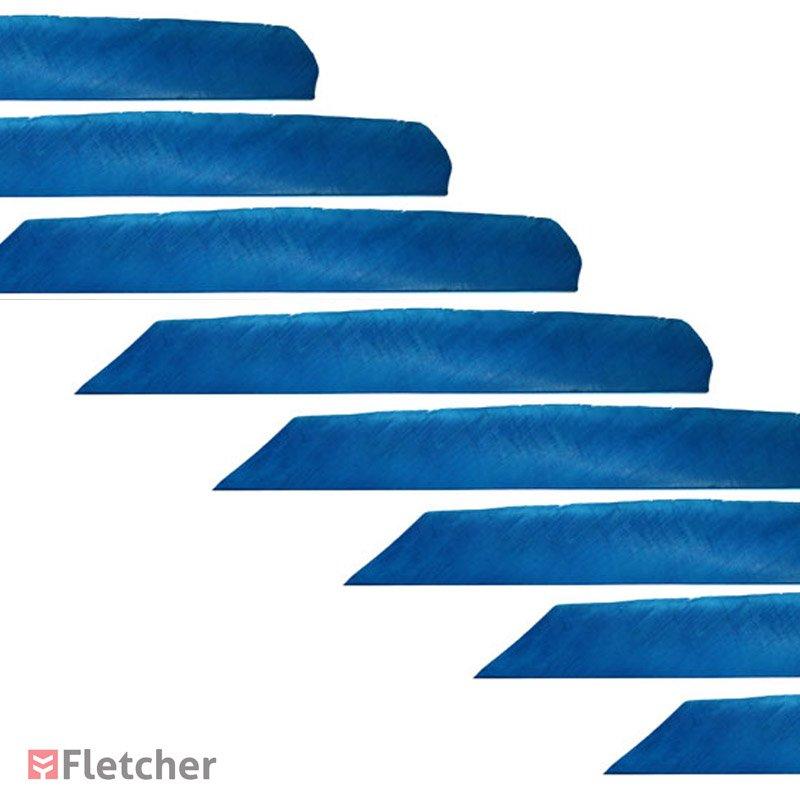 Pena de Peru Inteira Azul Bearpaw Full Lenght Feathers