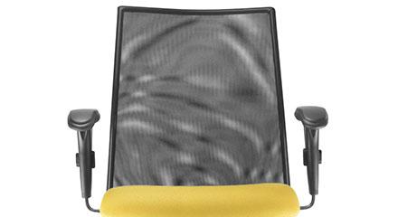 Detalhe do Encosto da Cadeira Frisokar Executiva Liss