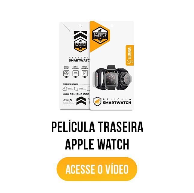 banner acesse o vídeo película traseira apple watch