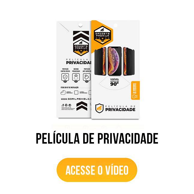 banner acesse o vídeo película de privacidade