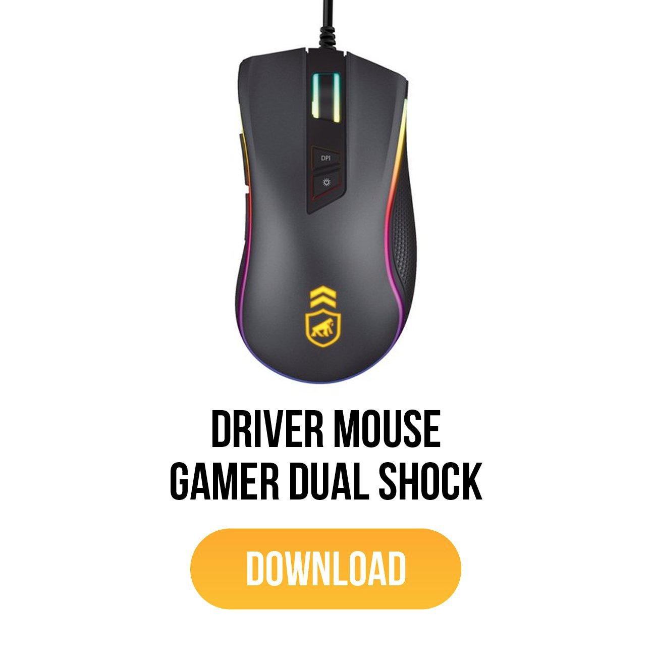 driver mouse gamer dual shock