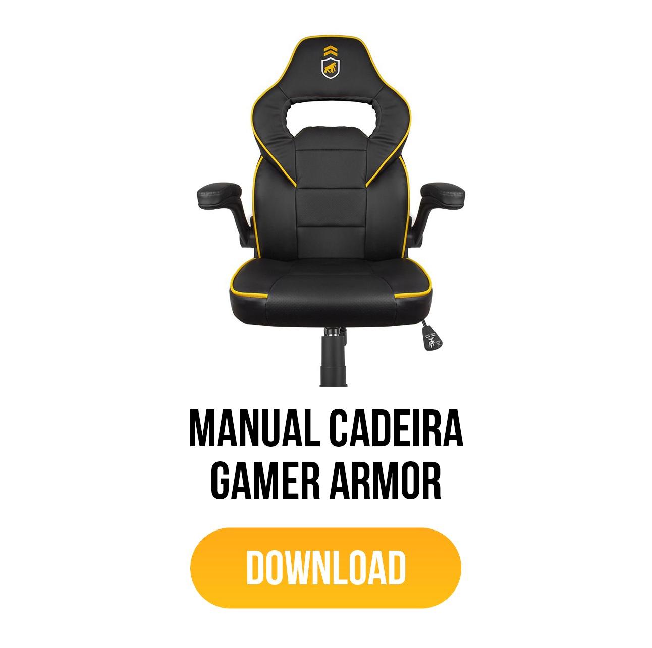 manual cadeira gamer armor