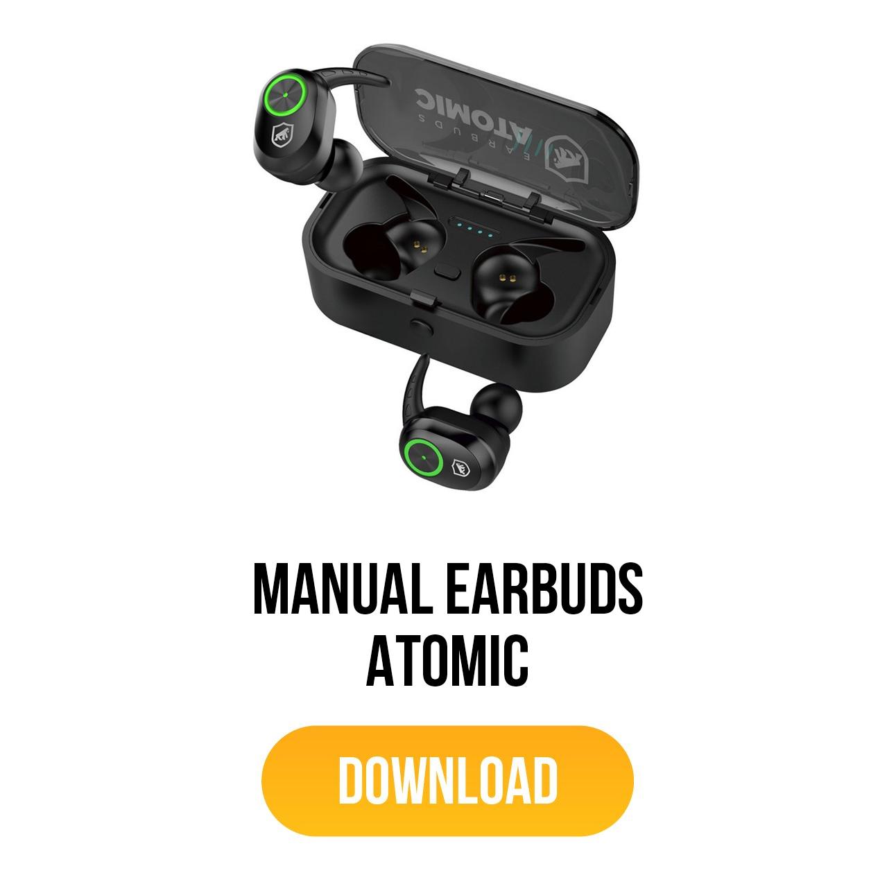 manual para earbuds atomic