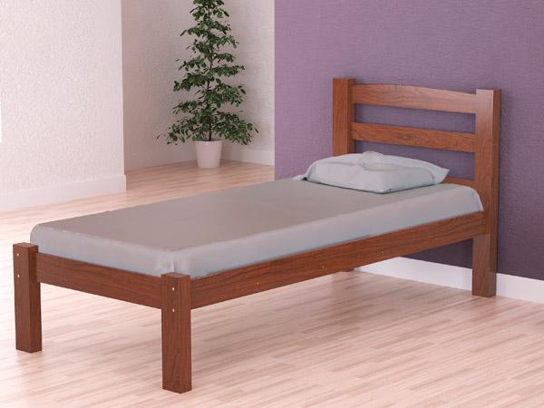 cama de solteiro robusta arauna moveis carvalho