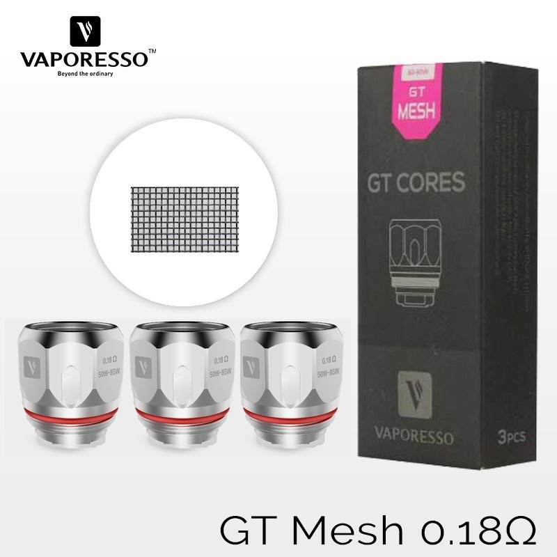 Resistência p/ Atomizador NRG - GT MESH - GT CORES - Vaporesso