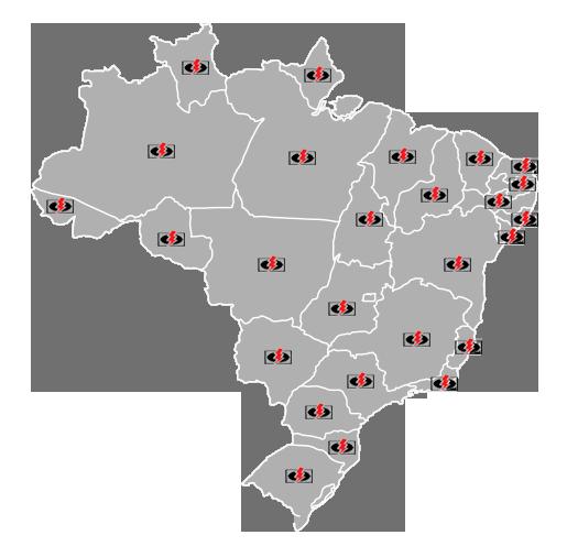 A UNIHOTEL atua em todo território Nacional