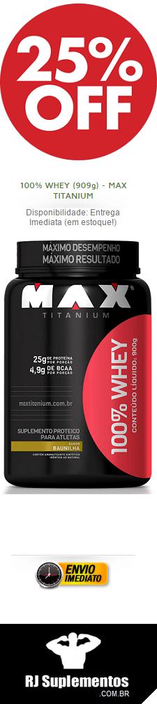 Whey Pro 900g- Max Titanium
