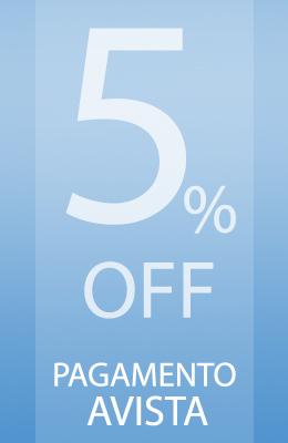 5% de desconto para pagamento avista!