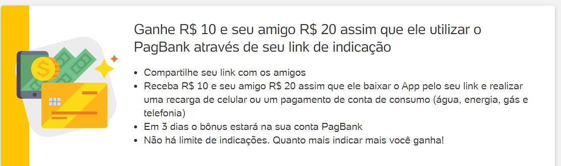 crie sua conta no pagseguro e ganhe 20 reais !
