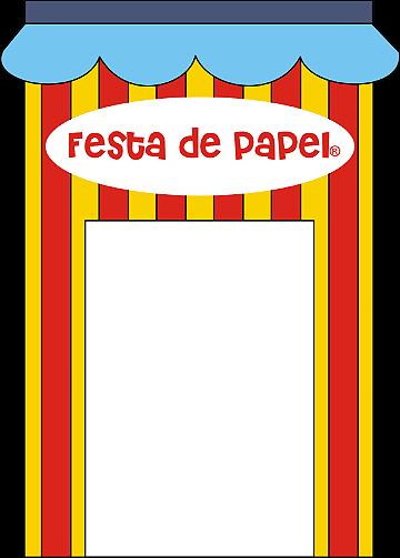 Banner Festa de Papel LATERAL