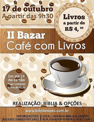 II Bazar Café com Livros