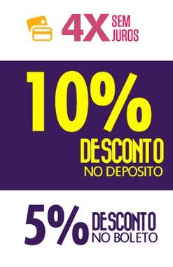 10% Desconto no DEPÓSITO