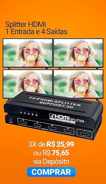 Splitter HDMI 1 Entrada e 4 Saídas