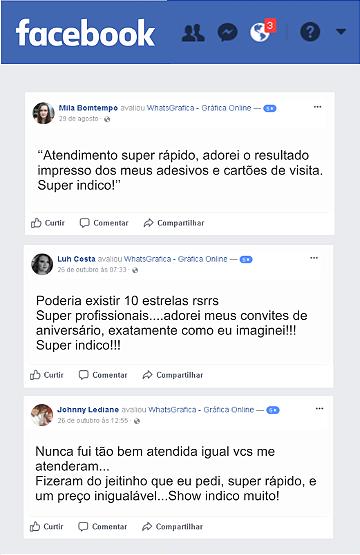 avaliações facebook