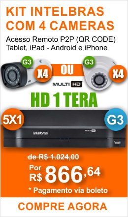Kit Intelbras 4 Cam 1010 HD 1TB