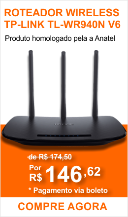 Roteador Wireless Tp-link Tl-wr940n 450mbps 3 Antenas V6 - Anatel