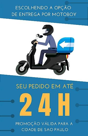 Entrega em até 24 horas por Motoboy - Usatel