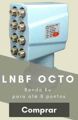 Lnbf Universal Banda Ku de Oito Saídas GCN