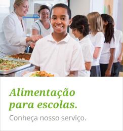 Banner Alimentação nas escolas